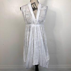 All Saints Dress Aeson White Burnout Sz 12